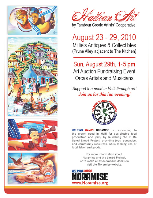 August Noramise Event - Haitian Art Auction Fundraiser